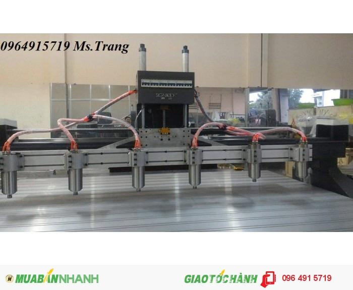 Máy CNC 2520 cấu hình cao chuyên đục tranh gỗ, đục chương ghế, chân sập,...