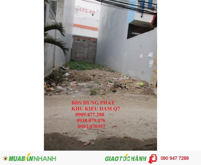 Cần bán gấp lô đất khu Kiều Đàm, Phường Tân Hưng, Quận 7.