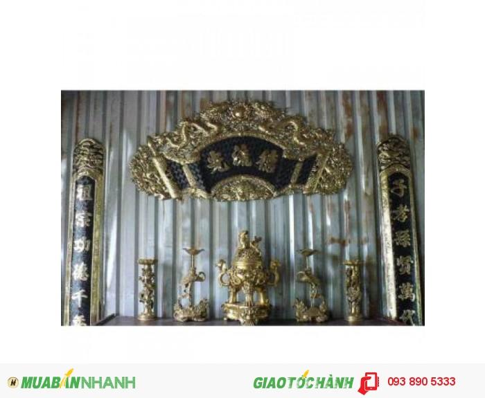 Cuốn Thư,Hoành Phi,Đức Lưu Quang,chất liệu đồng vàng.1