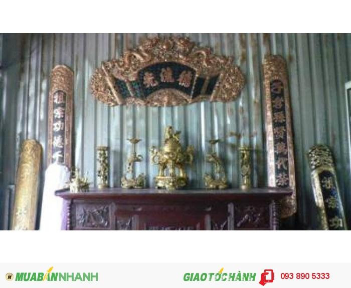 Cuốn Thư,Hoành Phi,Đức Lưu Quang,chất liệu đồng vàng.3