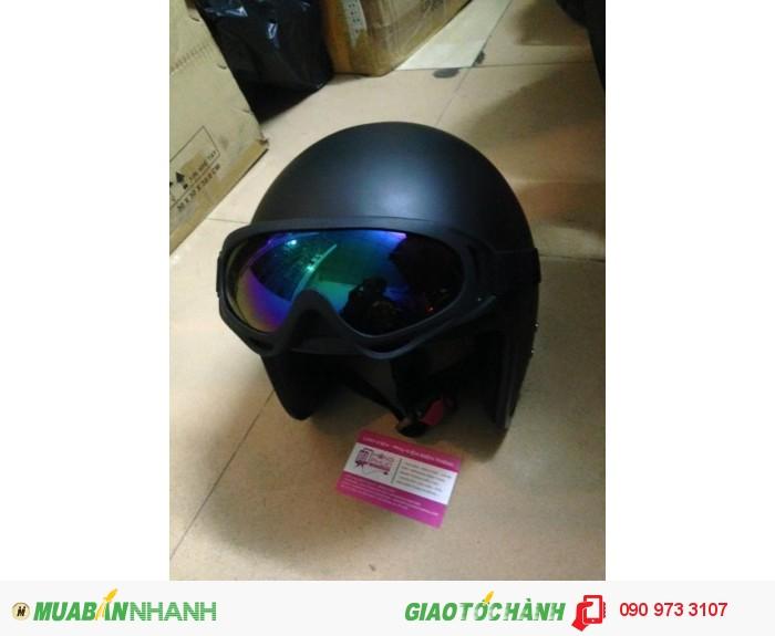 Combo Nón Bảo Hiểm Dammtrax 3.4 Và Kính Bảo Hộ UV400 Cho Phượt Thủ 2