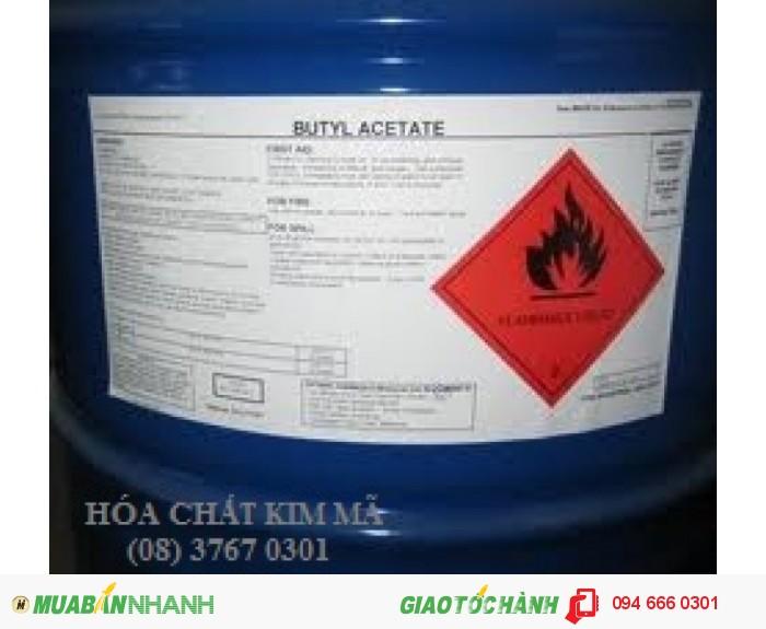 - Độ bay hơi của N-Butyl acetate rất thuận lợi cho các ứng dụng và làm khô, chống đục sơn và hiện tượng vỏ cam cho màng sơn. Vì thế nó tạo ra màng sơn có độ dàn đều và độ bóng tốt.0