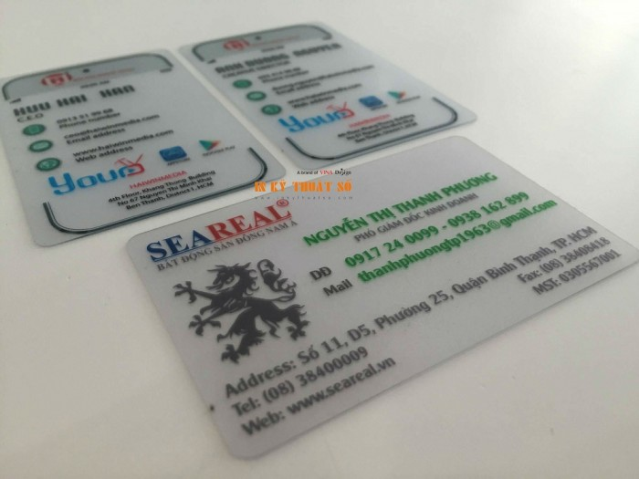 In name card trong suốt