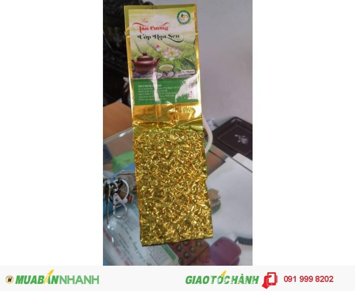 Trà Thái Nguyên ướp hoa sen - 75.000 đồng/ gói 100 gram (trà sen loại 1)0