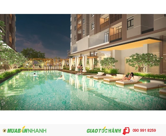 Căn hộ Quận 7 Luxcity mặt tiền Huỳnh Tấn Phát sát khu chế xuất Tân Thuận 500 mét. 24 triệu/m2 - 2PN.