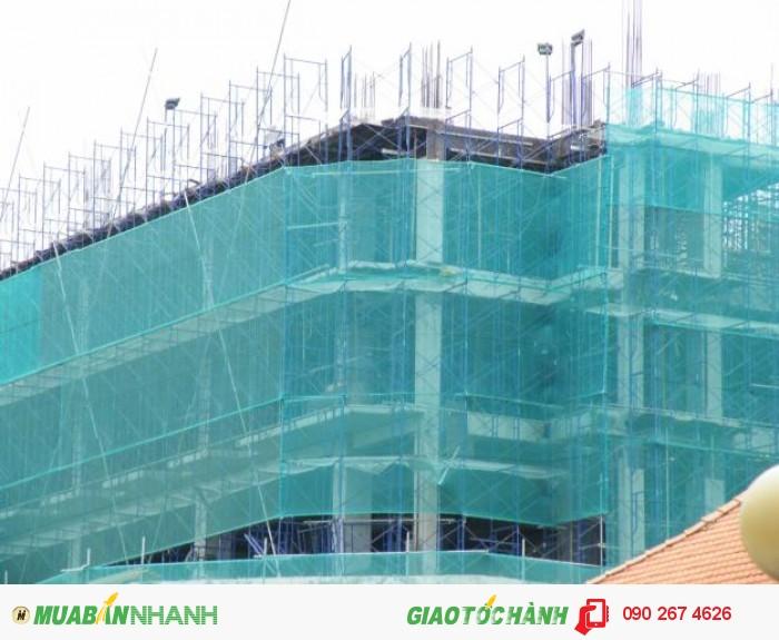 Lưới bao che chắn bụi công trình cao tầng, lưới an toàn