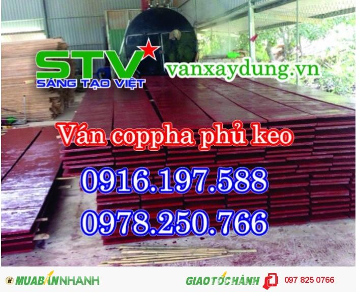 Cốp pha phủ phim Sài Gòn, Ván ép cốp pha sài Gòn, Ván khối đỏ dài 4m bình dương0
