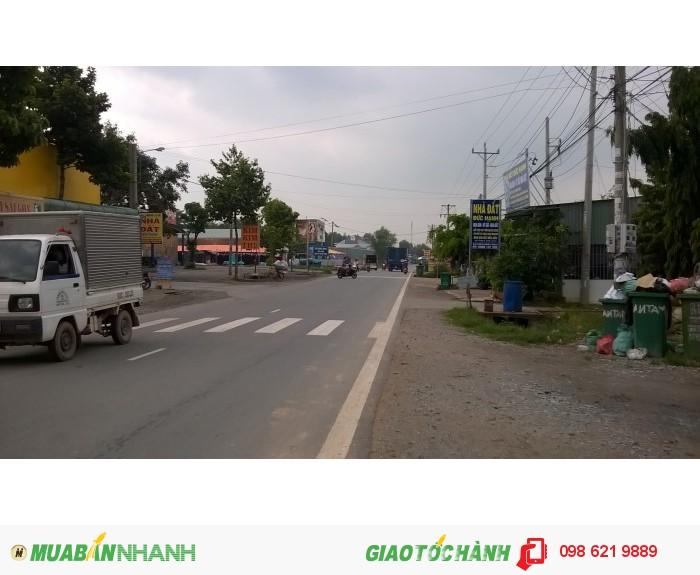 Bán đất mặt tiền kinh doanh đối diện chợ Quang Vinh 2, đường DH418 Tân Uyên Bình Dương diện tích 290m2 giá 2,1 tỷ ShR
