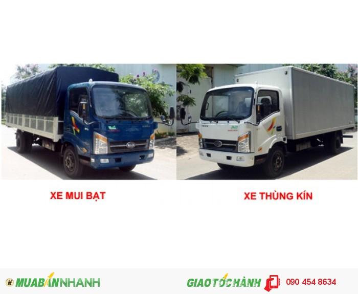 Xe tải thùng 6m veam vt260 lưu hành vào thành phố