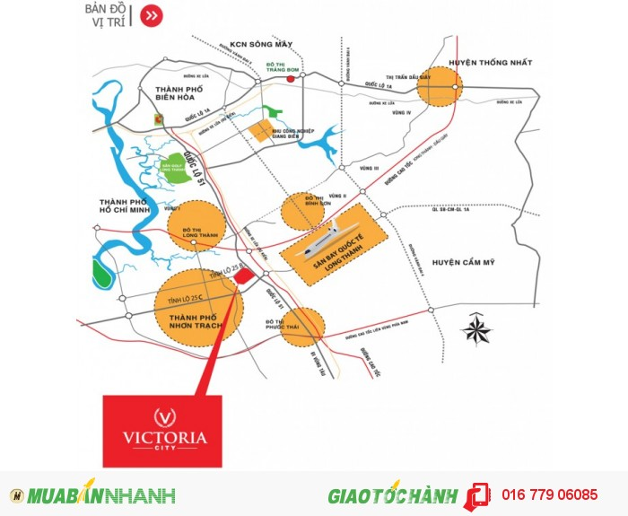 Victoria City - khu đô thị phụ cận sân bay quốc tế Long Thành