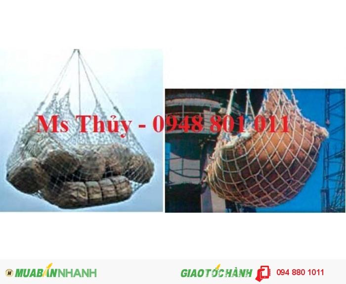Lưới bao hàng container, lưới bao hàng siêu thị, lưới cẩu hàng hóa công trình