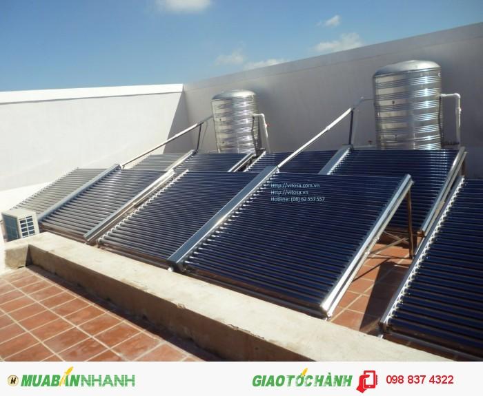 Lắp đặt máy nước nóng năng lượng mặt trời Vitosa an toàn và hiệu quả