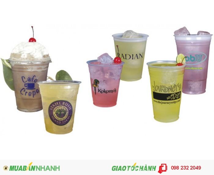 Cung cấp sỉ ly nhựa trà sữa in logo nhiều màu giá cạnh tranh