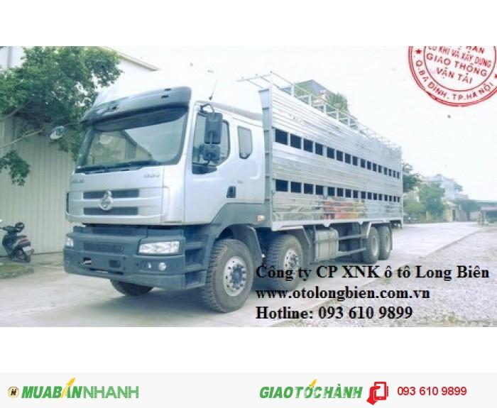 Xe tải chở gia súc, xe tải chở lợn 7-10 tấn, 3-4 chân Howo, Dongfeng, Chenglong 2017