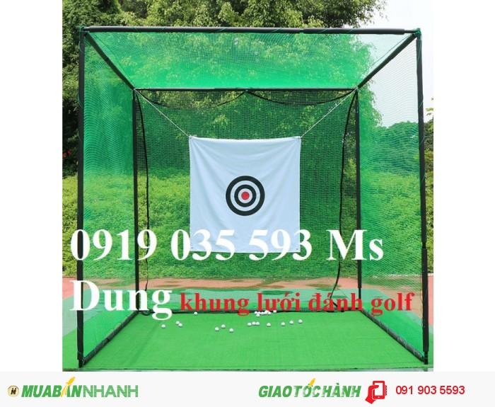 Lưới golf, lưới mắt 2.5cm bao quanh sân golf, thi công mini golf