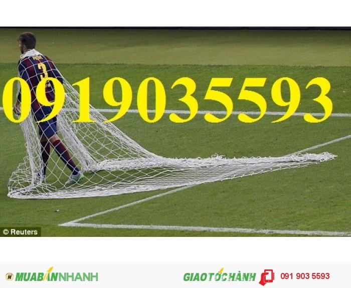 Lưới bao sân bóng đá loại 380/51 xanh ngọc, lưới quây sân 2 ly, lưới bóng 3 ly