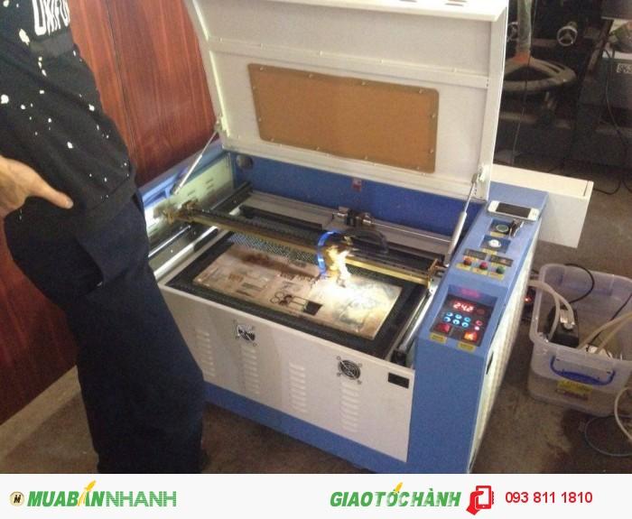 Máy laser 6040, máy laser cắt mica, cắt vải hot hot