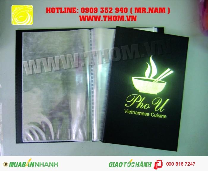 Cơ sở sản xuất bìa menu, sản xuất bìa simili, chuyên bìa tính tiền , bìa simili giá rẻ