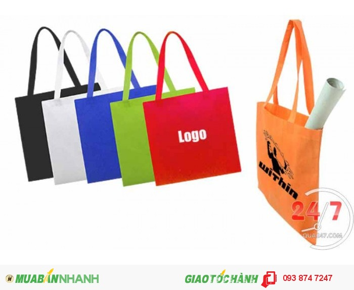 Túi vải đựng sản phẩm in tên shop, logo công ty, tên thương hiệu sản phẩm