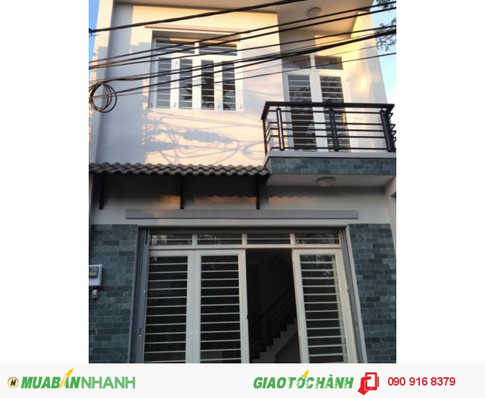 Cần bán gấp nhà 1 lầu mới đẹp hẻm Lũy Bán Bích, P.Tân Thới Hòa, Quận Tân Phú. Giá 1,45 tỷ