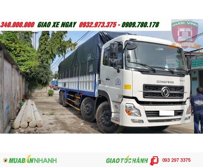 Giá xe dongfeng 4 chân/4 giò 18 tấn nhập khẩu trả góp thùng mui bạt