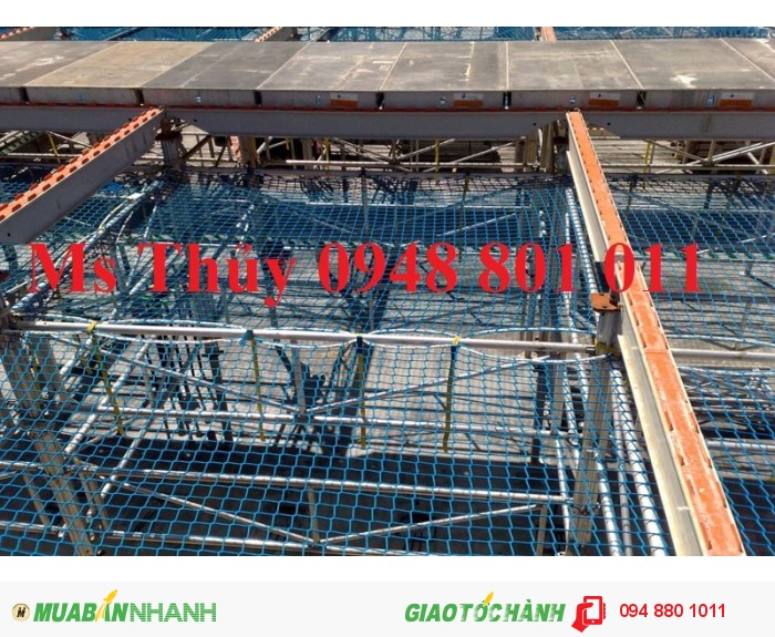 Lưới bao che xây dựng cầu đường, lưới chắn vật rơi đảm bảo an toàn cho công trình xây dựng, 2