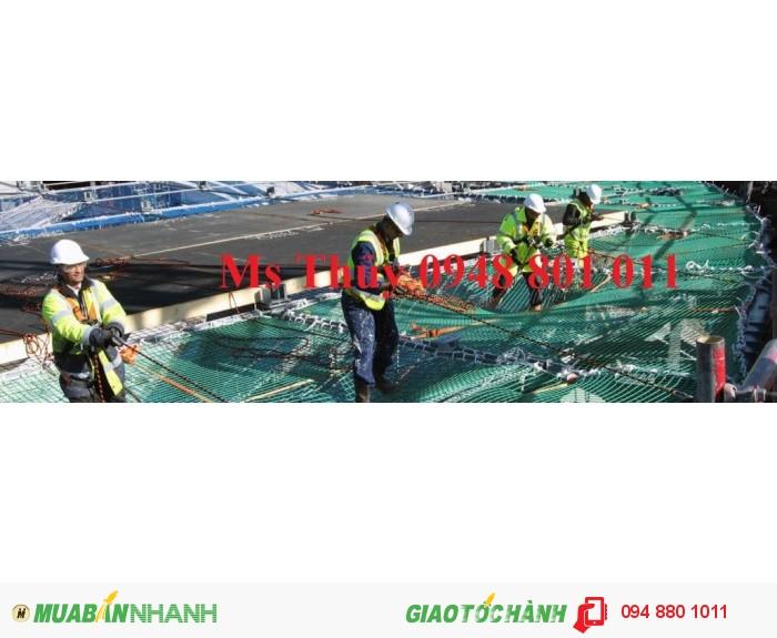 Lưới bao che xây dựng cầu đường, lưới chắn vật rơi đảm bảo an toàn cho công trình xây dựng