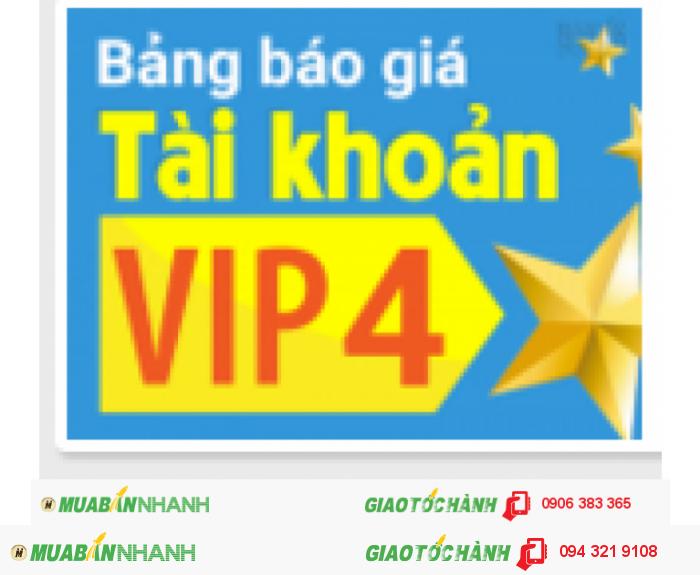 Đăng ký ngay tài khoản VIP 4 để được những tiện ích sau.
