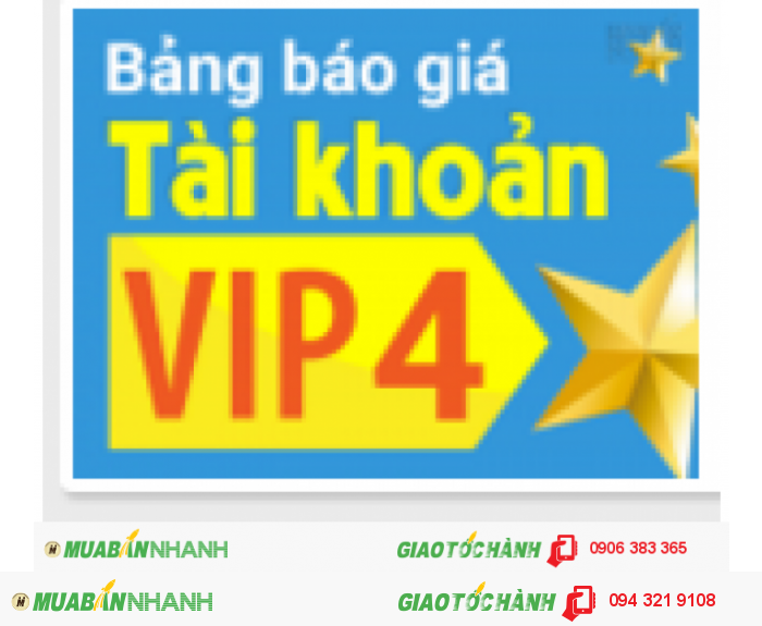 Khuyến mãi hấp dẫn: giảm 50% với tài khoản VIP 4 khi sử dụng gói 12 tháng.
