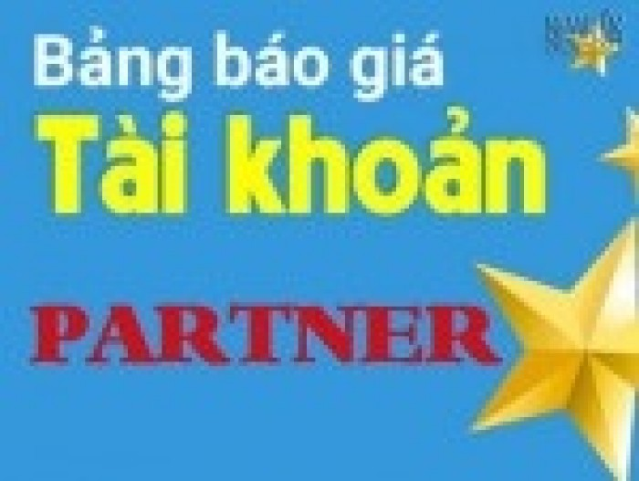 Tăng doanh số tức thì với tài khoản partner.