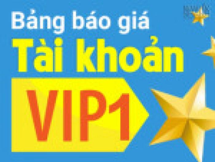 Tăng doanh thu với tài khoản VIP 1.