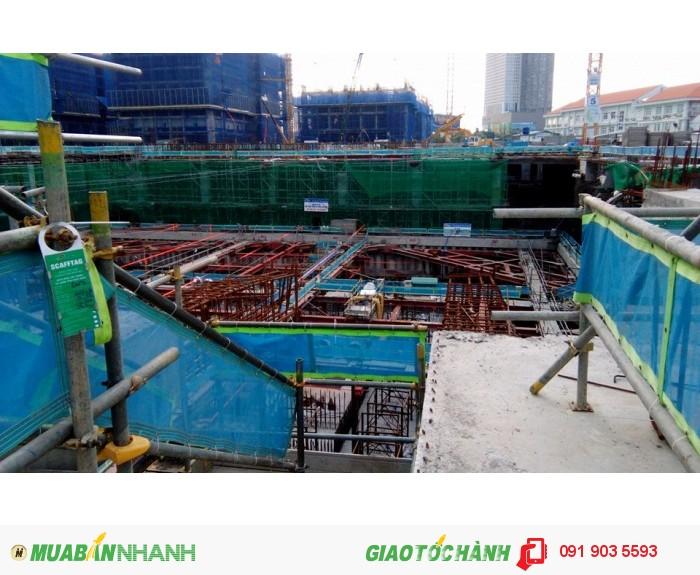 Phụ kiện bảo hộ lao đông cho công trình: lưới, lưới nhựa, lưới dù, lưới 2.5cm0