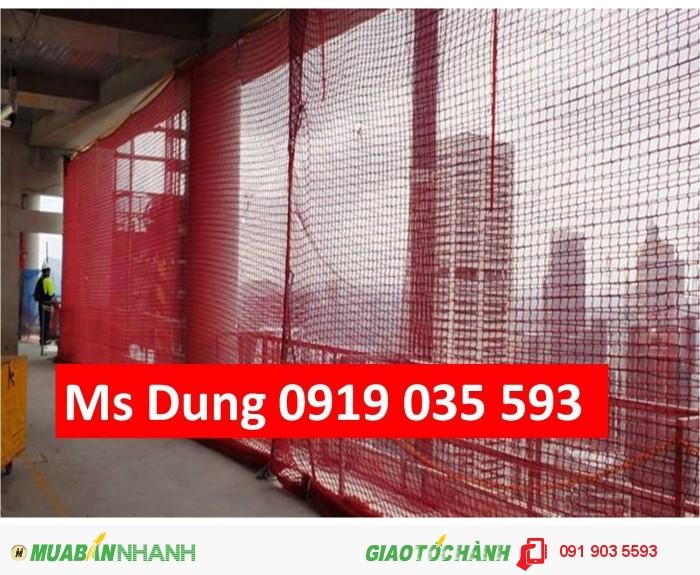 Phụ kiện bảo hộ lao đông cho công trình: lưới, lưới nhựa, lưới dù, lưới 2.5cm2