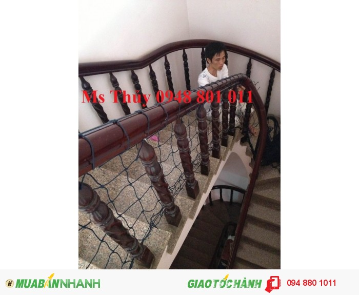 Lưới an toàn lan can cầu thang cho trẻ nhỏ và người già