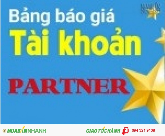 Giải pháp bán hàng hiệu quả với tài khoản partner của muabannhanh.