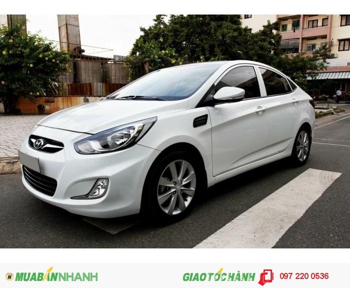 Bán Hyundai Accent 1.4AT xe nhập nguyên con màu trắng 1