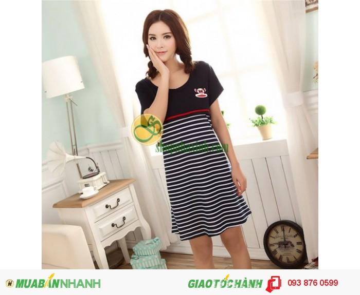 Váy Bầu Kết Hợp Cho Con Bú NX8222