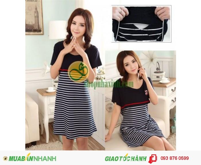Váy Bầu Kết Hợp Cho Con Bú NX8224