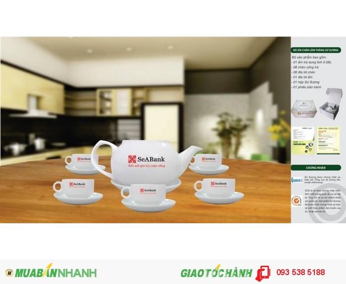 Bộ ấm trà in ấn logo tại Đà Nẵng - ly thủy tinh in ấn - Gốm sứ in ấn logo2