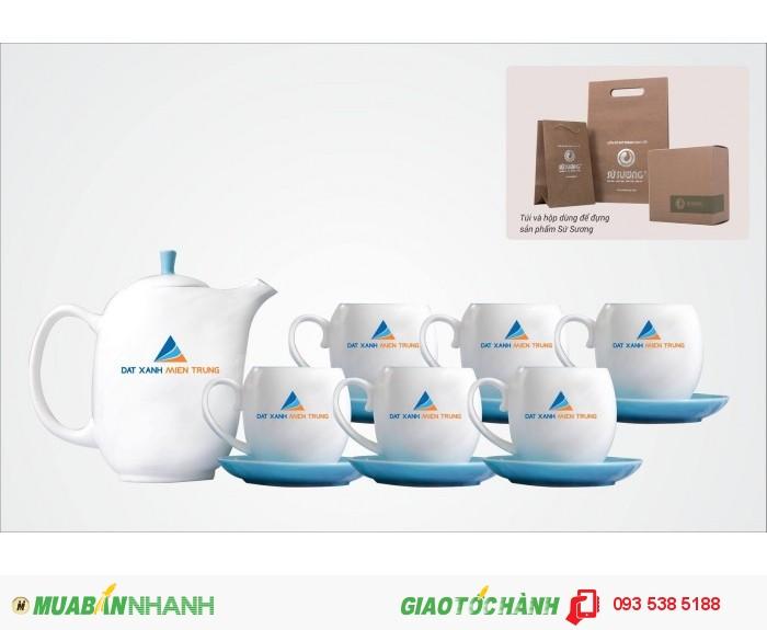 Bộ ấm trà in ấn logo tại Đà Nẵng - ly thủy tinh in ấn - Gốm sứ in ấn logo5