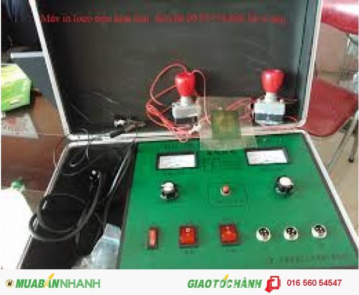 Máy inlogo trên chất liệu inox