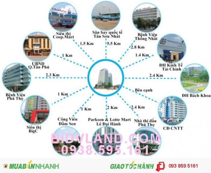 Bán gấp căn hộ ở quận Tân Phú, giá tốt, nhận nhà ở ngay