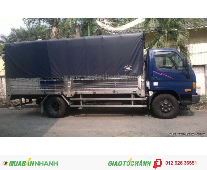 Xe tải Hyundai HD98S tải trọng 5, 5 tấn, Thùng dài 5m