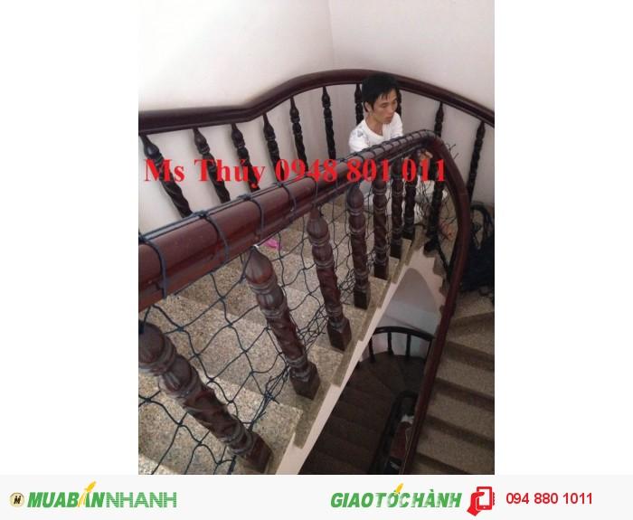 Lưới bảo hiểm chung cư cao tầng, lưới an toàn lan can cầu thang
