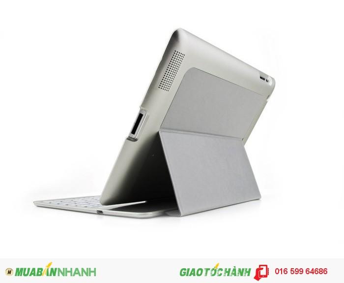 Bàn phím Bluetooth ipad 2 3 4 Bluetooth 7 màu đèn Phụ kiện cho bạn (Bạc)