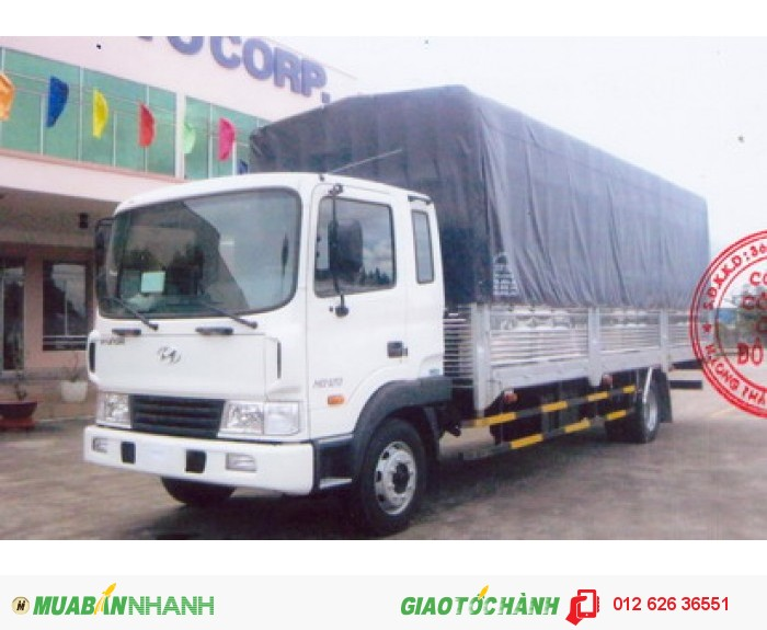 Hyundai HD120 thùng mui bạt tải trọng 5 tấn, mới 100%, giá thương lượng