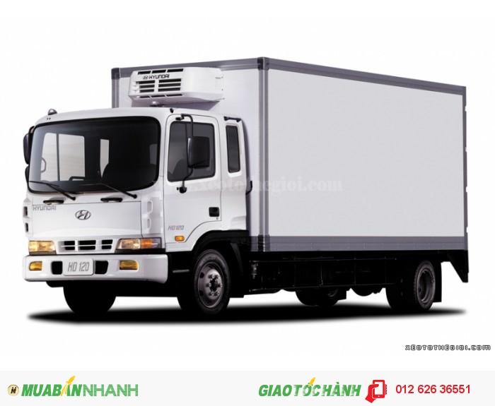 Hyundai HD120 Thùng Kín, Thùng Mui Bạt, trả góp lãi suất thấp