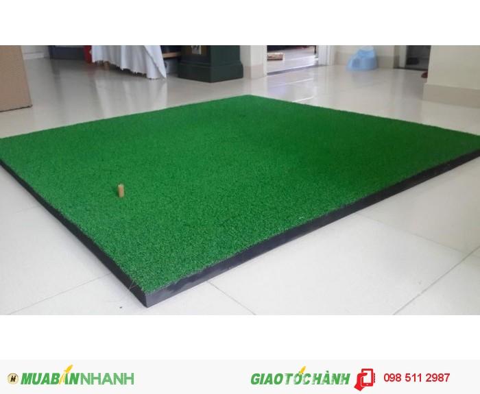Thảm tập golf swing 1,5x1,5m giá 3,5tr Tặng kèm tee cao su và 10 bóng tập