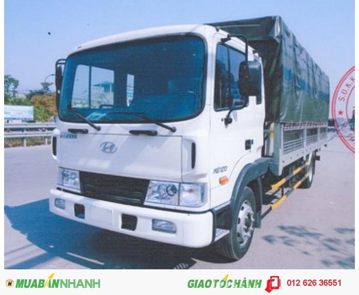 Xe tải Hyundai HD120 nhập khẩu thùng dài 7,3m giá cực tốt