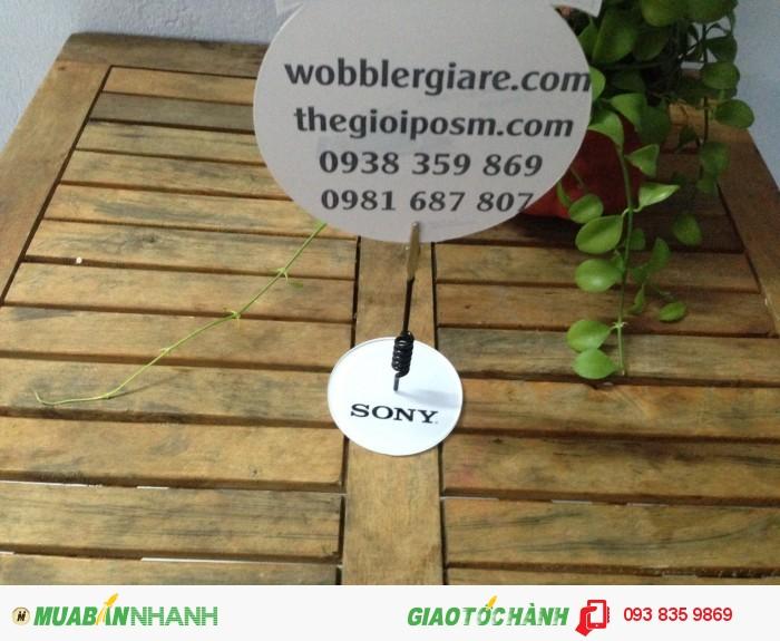 mẫu wobbler quảng cáo, mẫu wobbler giá rẻ, mẫu wobbler để bàn, gia công wobbler, sản xuất wobbler, làm wobbler